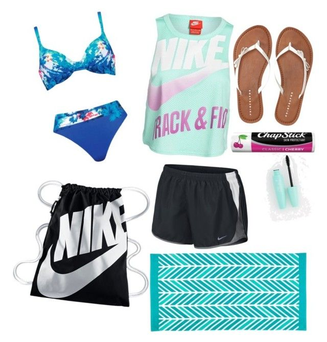 """""""Perfect Beach weather august 2016"""" by athlete2005 on Polyvore featuring Naturana, NIKE, Aéropostale and Chapstick"""