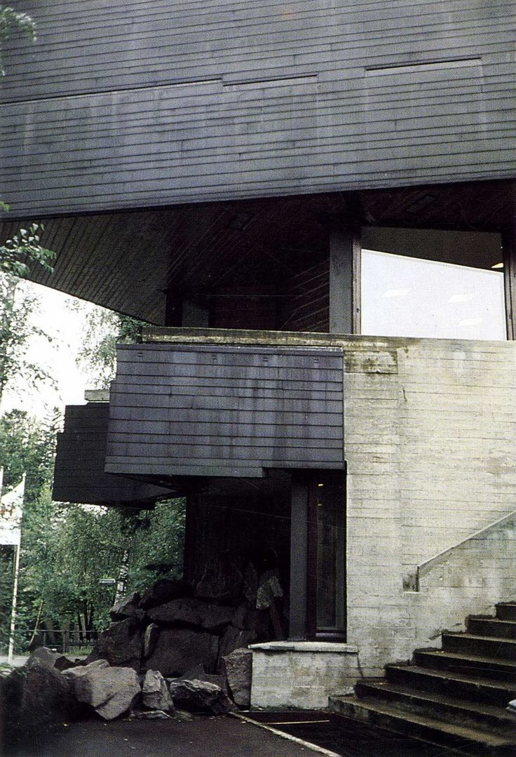 an amazing building, 2000 words isn't enough - Dipoli by Reima Pietila