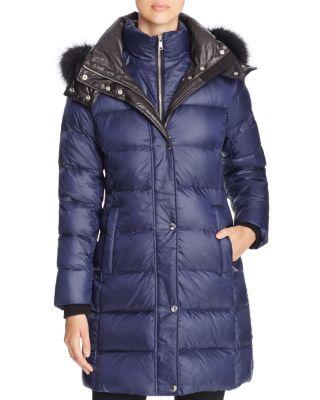 Dawn Levy Cloe II Coyote Fur Trim Down Coat | Bloomingdales's