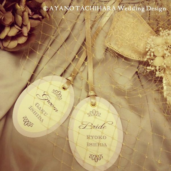 席札 seat card by AYANO TACHIHARA Wedding Design