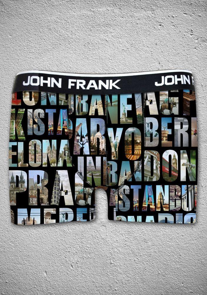 John Frank Digital Printed Ultra Premium Cotton Men's Boxer Cities #JohnFrank #Boxer