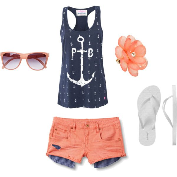 Summmer!: Summer Day, Summer Outfit, Dreams Closet, Color, Summer Style, Tanks Tops, Summertime, Anchors Shirts, Summer Time