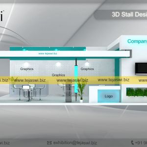 10 Meter x 5 Meter Exhibition Booth Design - 1053S-2