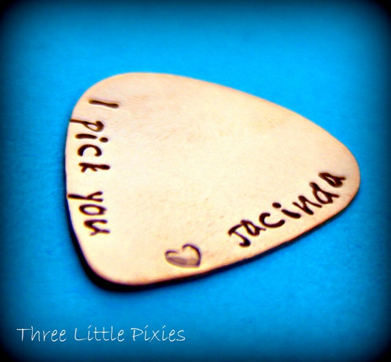 Hand Stamped Guitar Pick Copper Men's Gift by 3LittlePixiesShoppe, $20.00: Gifts Gifts, Creative Ideas, Craft Ideas Gift, Men Gifts, Guitar Pick, Ideas Gift Ideas, Awesome Idea, Party Ideas