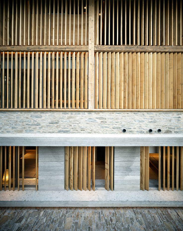 Interesting design. A beautiful barn renovation by architect Armando Ruinelli in Switzerland.