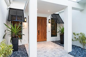 Beach house deails Naples Beach Coastal Retreat Front Door - Tropical - Entry - Other Metro - 41 West