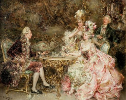Juan Pablo Salinas y Teruel (1871-1946) - The chess play