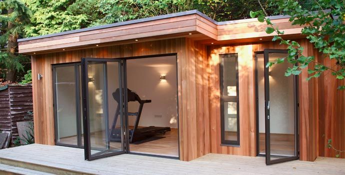 Sunflex SF55 aluminium bi-folding doors installed by Park Farm Design. To find out more about our bifolding doors visit - http://sunflexuk.co.uk/bifold-doors/aluminium-sf55-sf75/