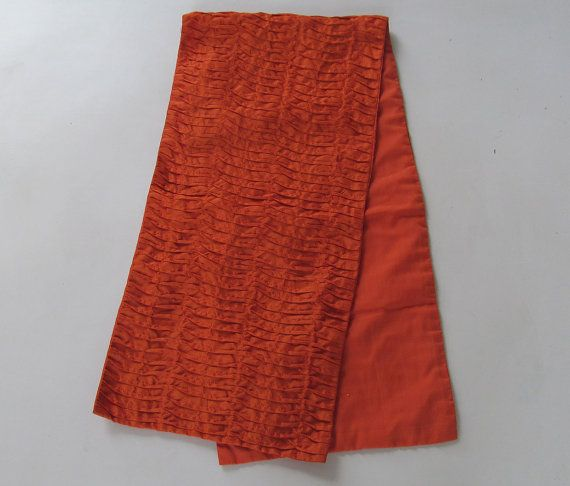 orange pleated table runner modern contemporary table decor 14X60 inches IN STOCK. $36.75, via Etsy.  Use code CHRISTMAS20 to get 20% discount.