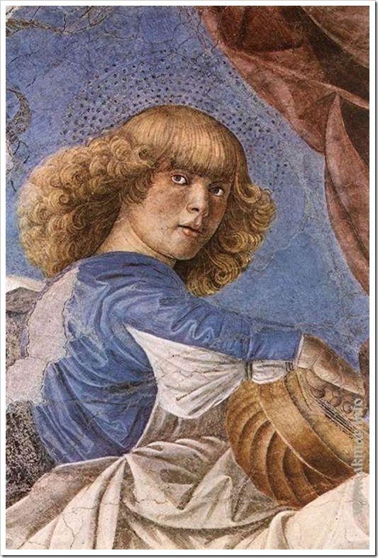 Музицирующий ангел. 1480-84. Пинакотека. Ватикан
