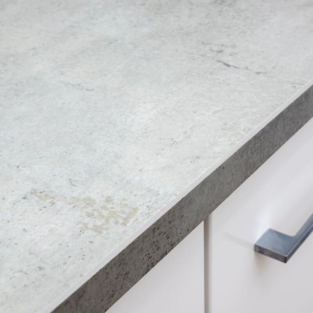 Great close up of a mitred edge profile on this Neolith Beton benchtop.