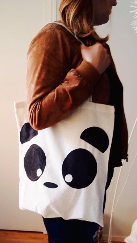 Tote Bag Panda Kawaii