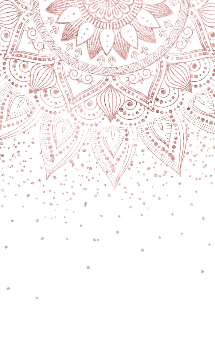 Elegant rose gold mandala confetti design Window C…