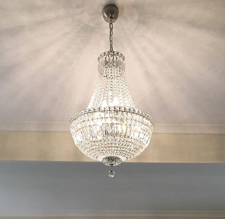 Allandale drive, Forestdale project completed and looking amazing- 6 light Basket chandelier in LED. #bitolalightingandfans #crystalchandelier #chrome  www.bitolalighting.com.au