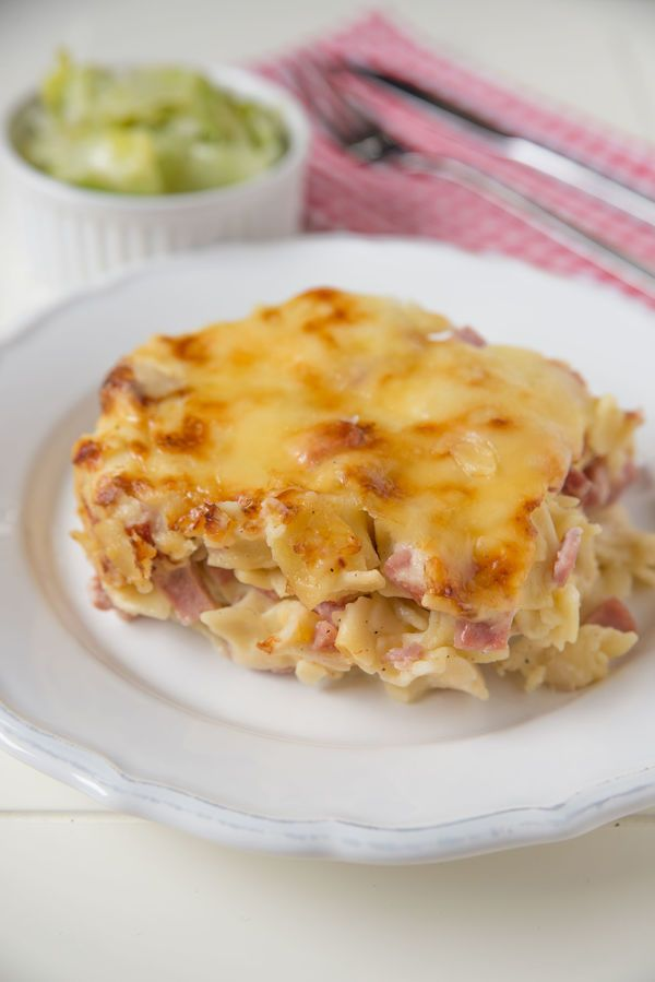 Cheesy Casserole: Baked Béchamel And Prosciutto Pasta