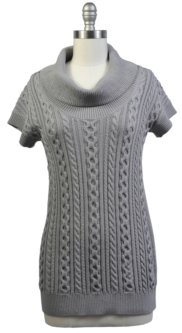 SW05 Cowl Neck Tunic  Color: heather gray