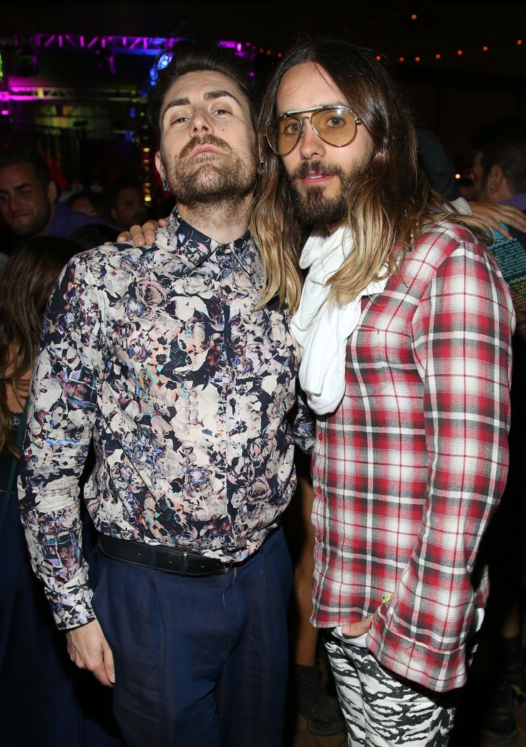 Davey Havok and Jared Leto at NYLON x Olay Fresh Effects' Neon Carnival. Can...not...handle...too...AWESOME...(don't faint, Heather.)