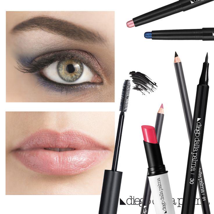 Pink and blue make up by diego dalla palma milano #diegodallapalma #makeup #motd #lips #eye #nudelips #greeneyes