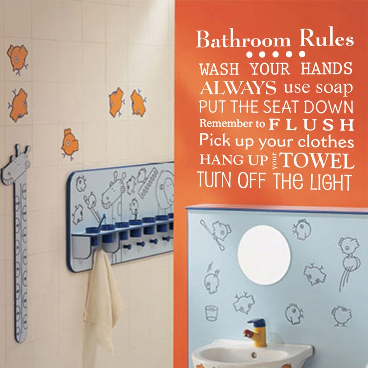 Best Bathroom Art Images On Pinterest Bathroom Art Bathroom - How do you put up vinyl wall decals