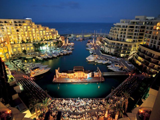 The stunning view from Hilton Malta at Spinola Bay.