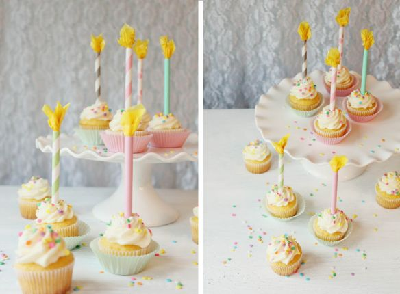DIY Paper Straw Birthday Candle Cupcake Toppers  - Icing Designs