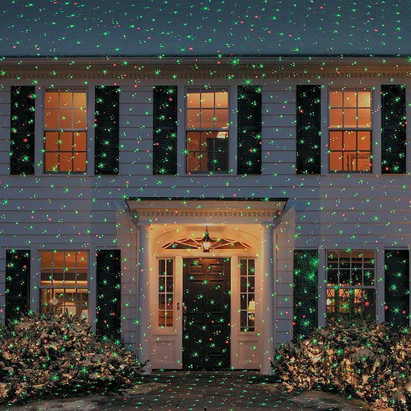 Holiday Indoor Outdoor Christmas Laser Wall Flurries Light Show Projector Decor  #Unbranded