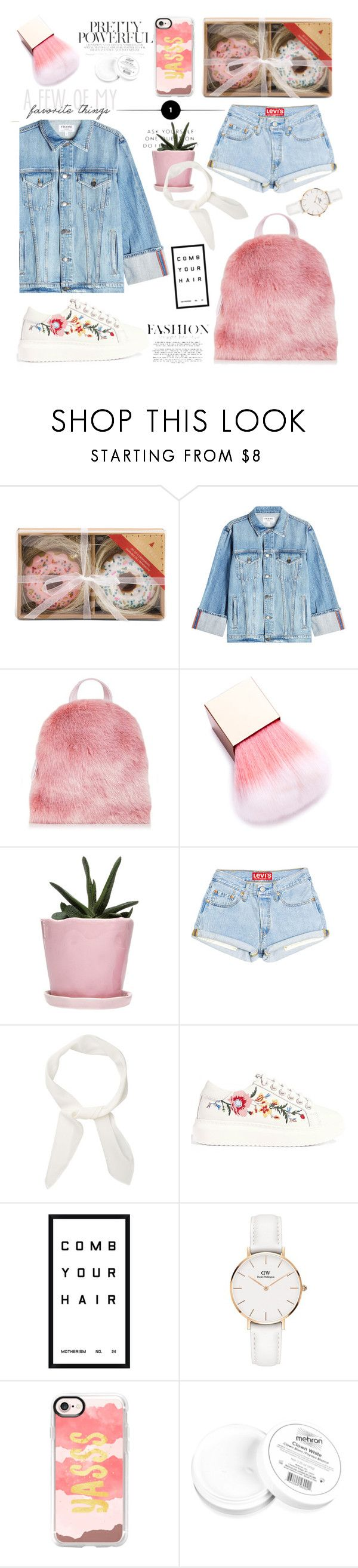 """""""#253"""" by thuhanguyen-1712 ❤ liked on Polyvore featuring Frame, Dot & Bo, Chloé, Karen Millen, Pottery Barn, Daniel Wellington, Casetify and Mehron"""