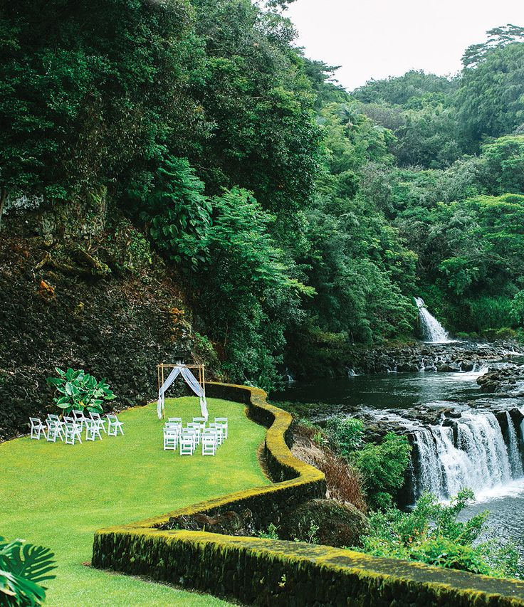 Hawaii island wedding venue: The Falls at Reed's Island (This one is my fav!!)