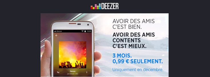 Deezer vs Spotify : la bataille des promotions - http://www.frandroid.com/bons-plans/331324_deezer  #ApplicationsAndroid, #Bonsplans, #Musique