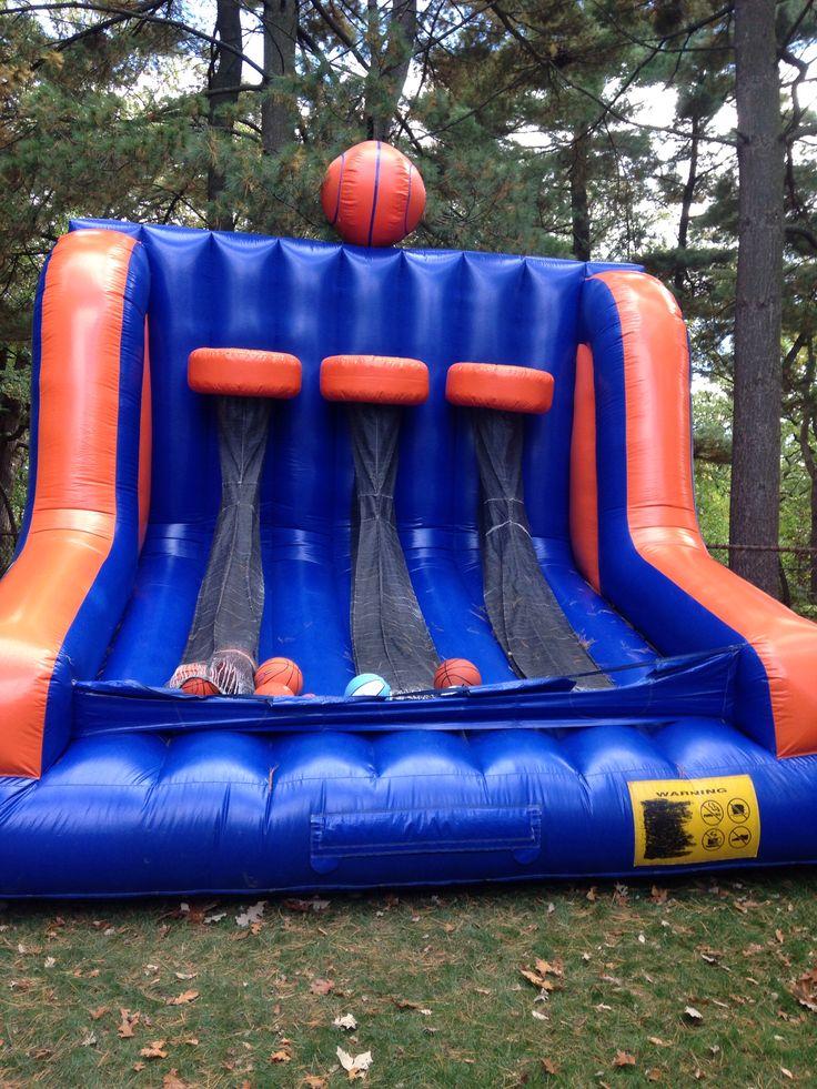 Triple Shot Basketball Bounce House Basketball Theme