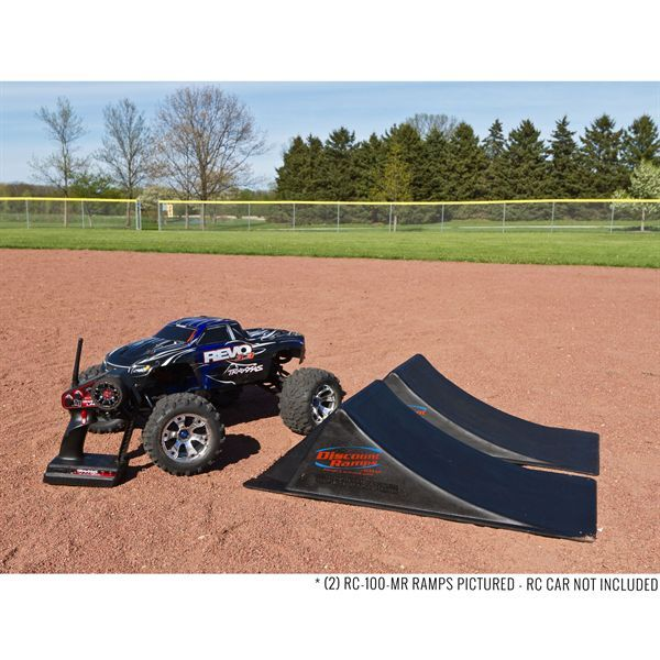 Portable launch ramps for nitro, gas powered, and electric RC cars. Great for creating custom Nitro Cross practice courses or freestyle jumping!