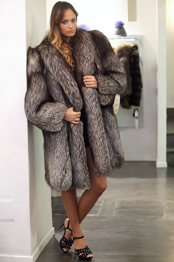 silver fox fur coat | Fur-INSPIRES | Pinterest | Coats Sexy and