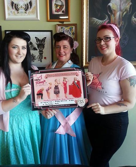 Promoting the WA state final in Bunbury. With Miss Von Holmes & Miss Peggy Jean www.misspinupaustralia.com.au