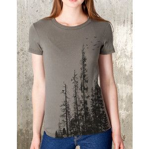 Women's Forest T-Shirt American Apparel Women's T-Shirt Women's Small Through 2xl Available