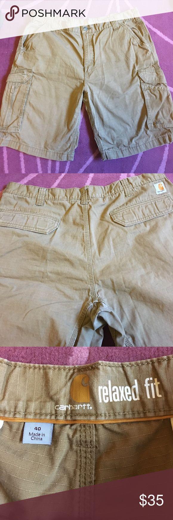 Men's Carhartt Cargo Shorts Dark tan relaxed fit Carhartt cargo shorts. In perfect condition. Size 40 Carhartt Shorts Cargo