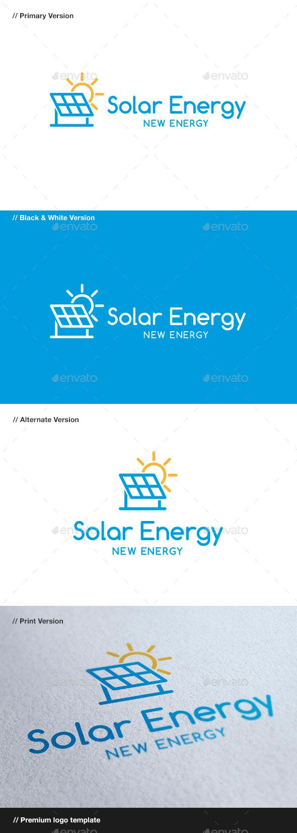 Solar Energy - Logo Design Template Vector #logotype Download it here: http://graphicriver.net/item/solar-energy/8866314?s_rank=1061?ref=nexion