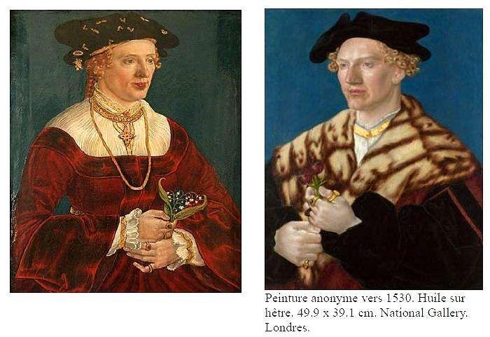 Région du Danube, c. 1530. Le portrait féminin est conservé à Winthertur, coll; Oscar Reinhart
