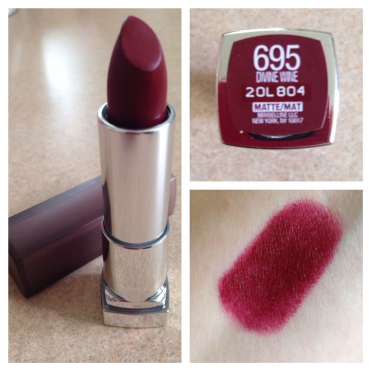 12 Sensational Schemes That Are: Maybelline Lipstick In Divine Wine I Think I Spent $8 On