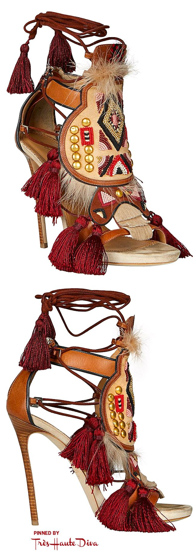 ♔Très Haute Diva♔ Dsquared2 Fall2015 Eskimo Chic Sandals in Brown