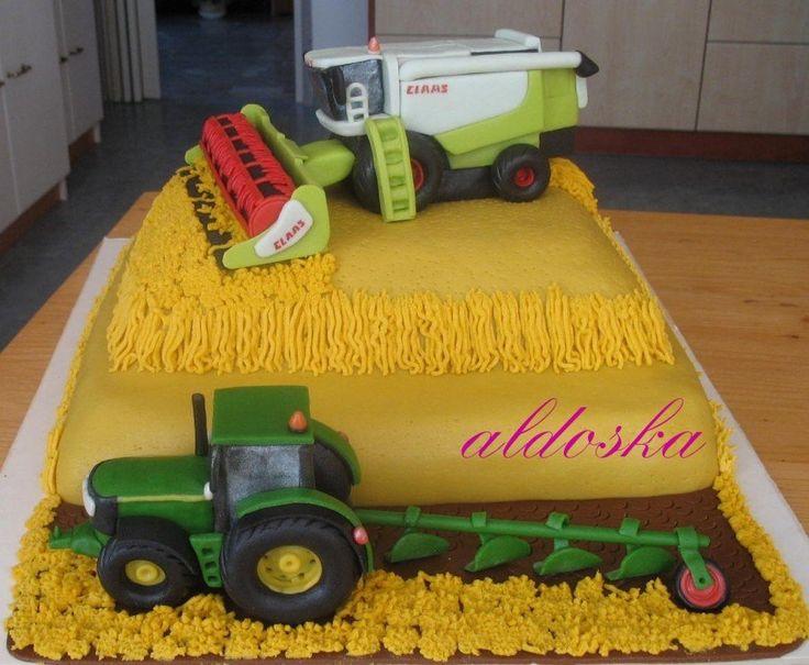 Kombajn a traktor - dort do tomboly na zemědělský ples