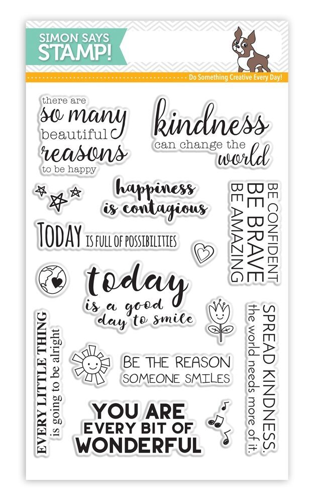 RESERVE Simon Says Clear Stamps UPLIFTING THOUGHTS SSS101623 Among The Stars  zoom image