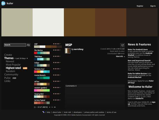 Colour scheme tools