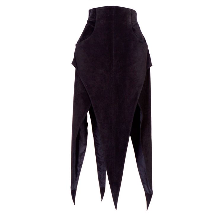 Early KARL LAGERFELD Suede Skirt | From a collection of rare vintage skirts at https://www.1stdibs.com/fashion/clothing/skirts/