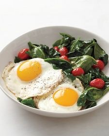 Eggs with Spinach and TomatoesBreakfast Eggs, Everyday Food, Tomatoes Recipe, Eggs Salad, Dinner Ideas, Spinach, Martha Stewart, Tomato Recipes, Food Recipe