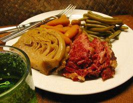Corned Beef in Beer (Crock Pot).  Family has been craving corned beef .... This one's the winner!