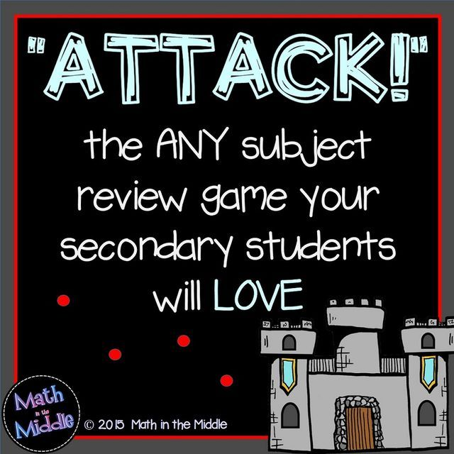 A Review Game That Students Love – ATTACK! (Math in the Middle)