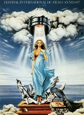 Cannes Film Festival 1977. The poster is an original illustration by Siudmak.