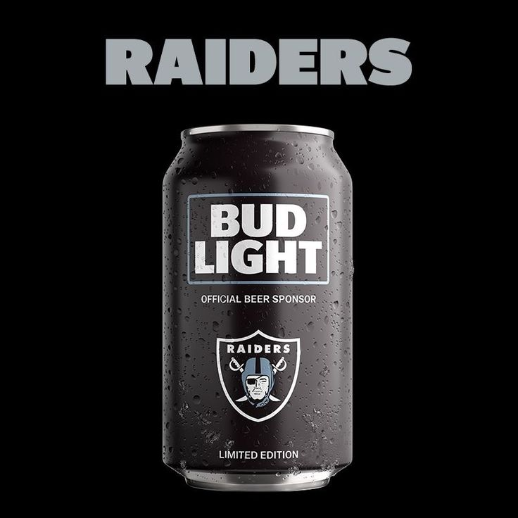 OAKLAND RAIDERS BUD LIGHT
