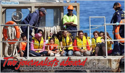 The Department of Immigration and Citizenship has confirmed the arrival in Australia of an asylum seeker boat carrying two journalists and other passengers.  Intercepted by Customs and Border Protection Command, the asylum seeker boat was found on the north of Christmas Island on September 8th. The boat was carrying the two journalists—an American and a Dutch, as well as 57 passengers and two crew.