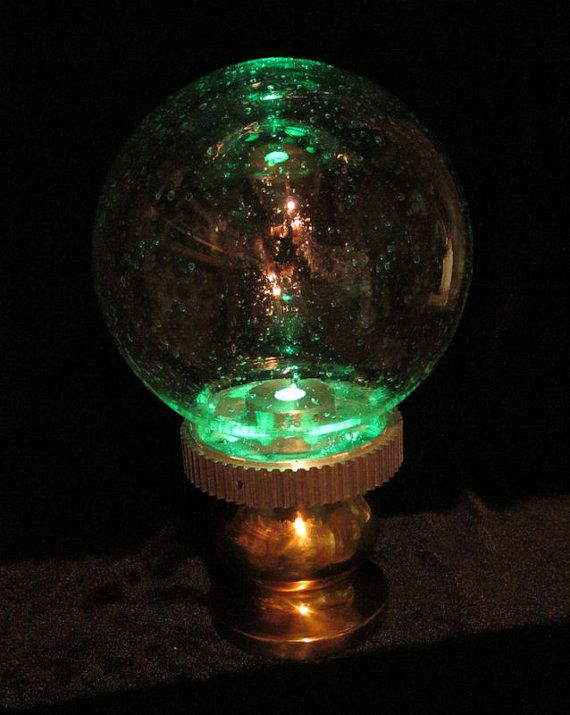 Steampunk Airship Tracking Lamp Gear Globe by RiverOtterWidget
